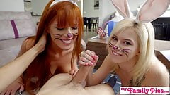 Bunnies Tricked By Step Brother Ends With Easter Creampie