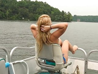 Blonde Teen Step-Sister gets a Public Creampie on a Boat