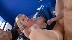 Blondie watches other Blonde get fucked