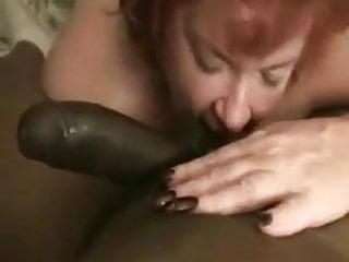 Mature Red Sucks Licks Rims Black Cock