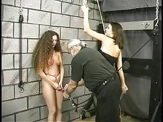 Teen slave gets her arms and pussy strapped by first time mistress