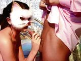 Sexy masked babes loves getting shared