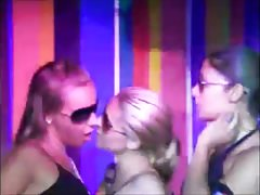 Lesbian dancers public make out