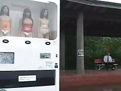 Drink Girl Vending Machine in Japan