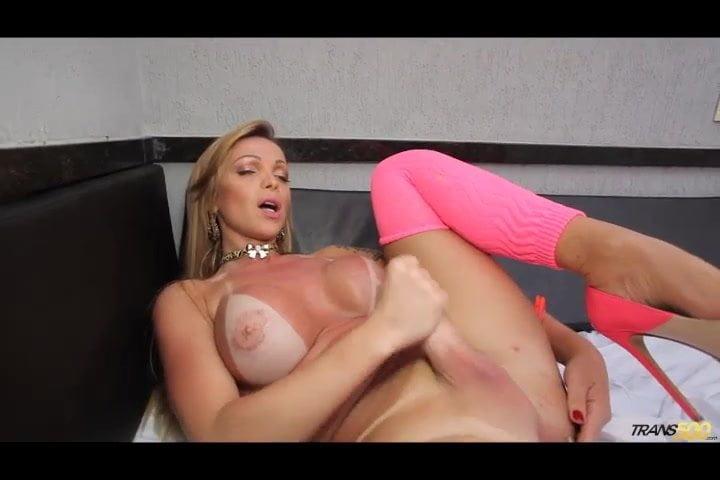 tranny asshole stuffing with cock masturbation