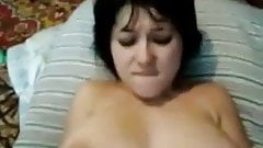 First amateur anal whith big tit girl