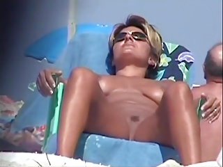 Nude Beach - Babes Opening Wide