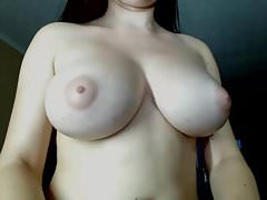 Amazing body. Busty firm big natural boobs masturbating