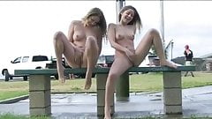 Outdoor Two Girls