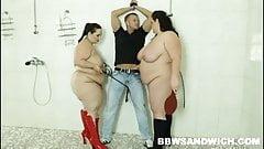 Bbw shower and threesome