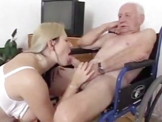 Older man fuck and get sucked by blondie