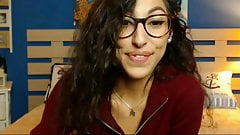 My favorite camgirl - goes braless under her shirt and tease