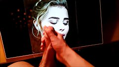 Chloe Moretz Licks a Thick Load off her Perfect Lips Tribute