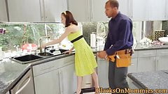 Classy cougar milf spitroasted by black dick