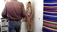 Cute blonde bound & gagged by her master