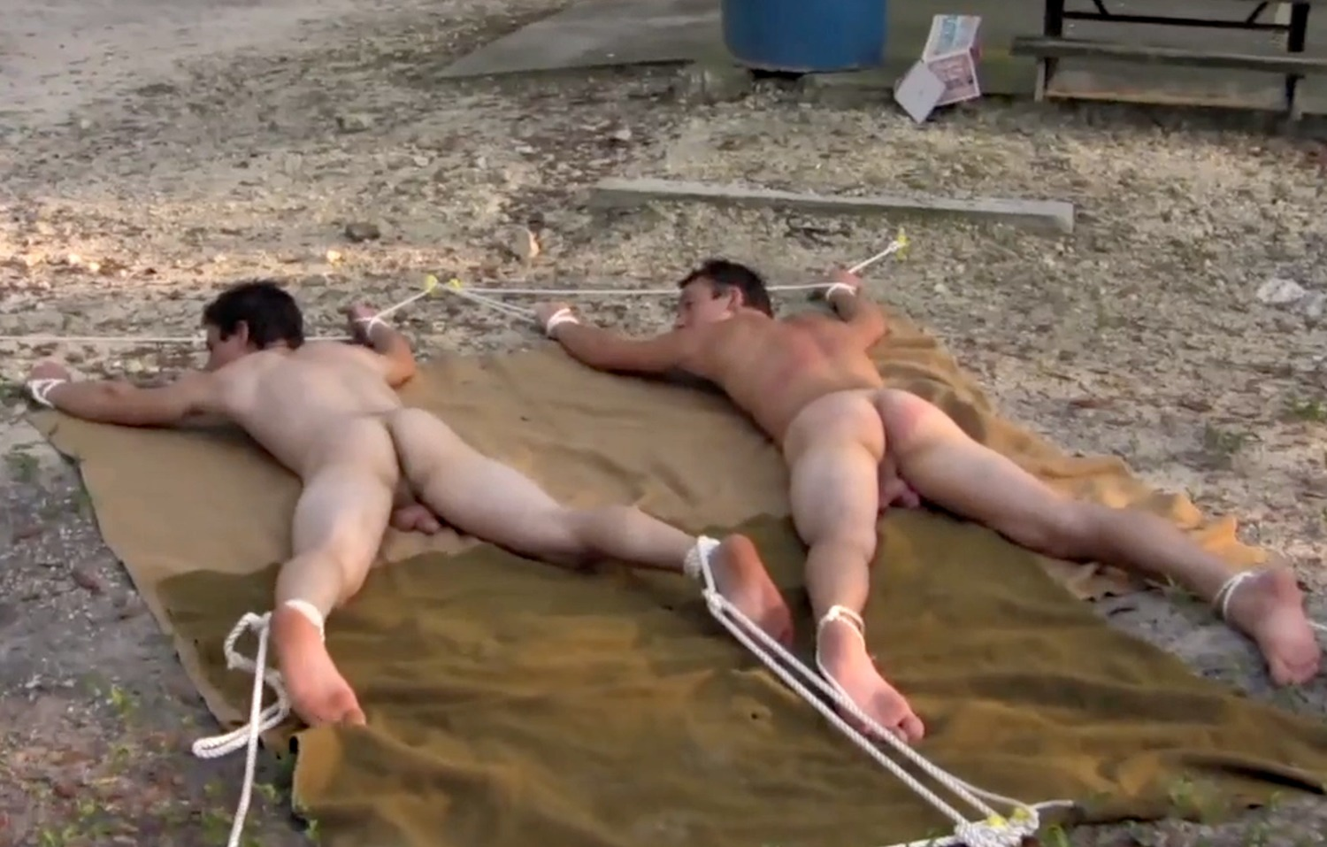 Straight Boys Whipped & Jerked Off With Girlfriend Watching