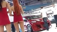 short red dress upskirt