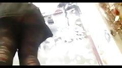 upskirt black pantyhose