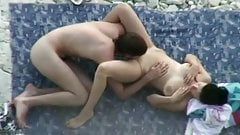 Having sex on beach. Hidden cam