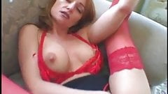 Sexy girl with long red nails suck and fuck