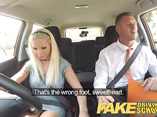 Preview 3 of Fake Driving School Barbie earns her pass with a huge facial