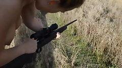 Shooting a Gun Then Giving a Blowjob