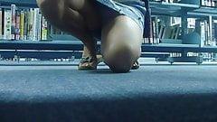 Yummy Mummy Upskirt at the Library
