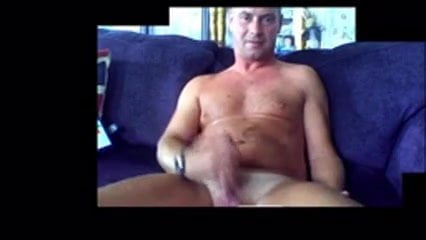 engish sexy dad wanks on cam and shoots a full load
