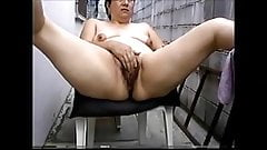 Mature Hispanic masturbating