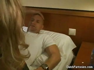 Dutch Maid Fucks Hotel Room Guest!
