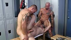 MenOver30 Sean Duran 3 Way in Locker Room