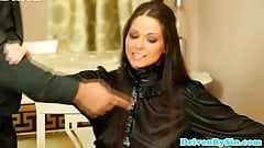 Cock hungry eurobabe Simony Diamond deepthroating