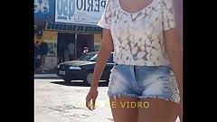 NOVINHA RABAO E SHORTINHO CURTO BIG ASS TEEN T 226