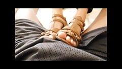 Kazuha rubs his dick in high heels!