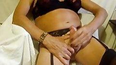 sissyslut pleasuring herself