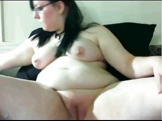 Extremely Horny Fat BBW GF masturbating her Wet Pink Pussy