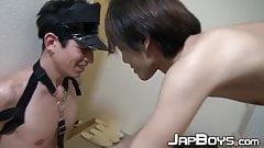 Japanese gay teens Fuji and Riku banging until hot climax