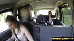 British cabbie pussylicking lesbian passenger