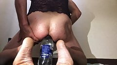 beauty bottle in anal for a great pleasure