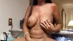 Horny mature babe with lovely large boobs and a sexy tight