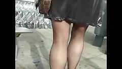 Voyeur stockings and upskirt