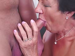 Grandma gets a visit taboo sex included