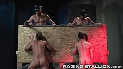 RagingStallion Suck That Dick & Spit On It Thru Glory Hole