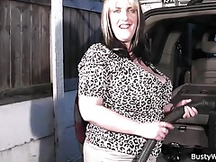 Man fucks busty working women in the car Thumbnail