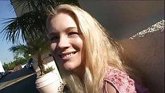 blonde hoer wil creampie