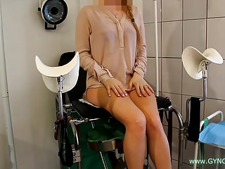 Girl On An Old Gynecological Chair