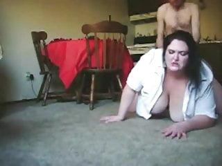 Skinny Guy Fucking Fat BBW Ex Girlfriend on the Floor