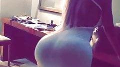 Bubble butt in tight dress