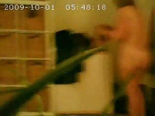 my voyeured house wife after shower. hidden cam