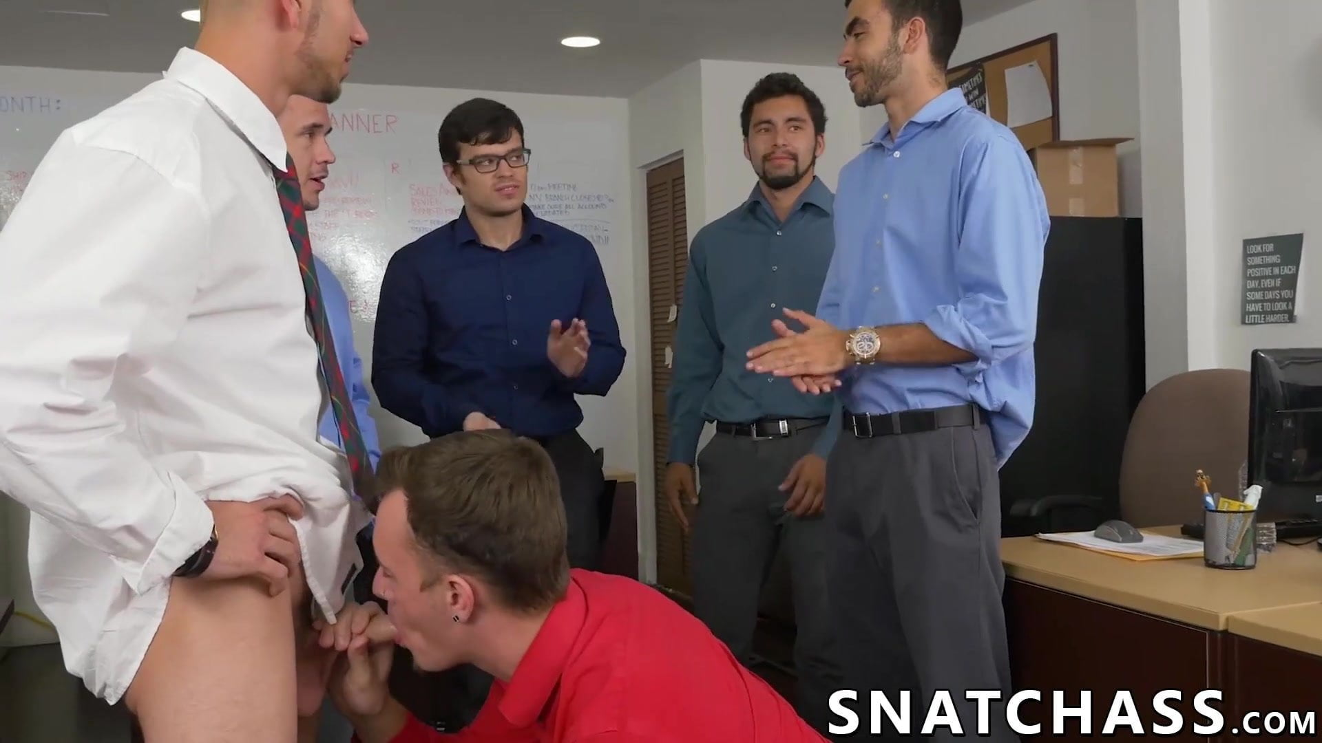 Assfucked beginner rapidly learns new workplace rules